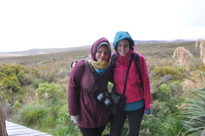 Sophia und ich müde und verfroren am Ausgangspunkt