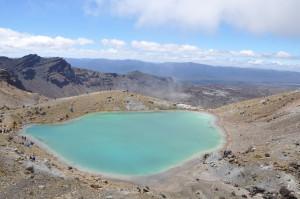 Vulkansee in unglaublichen Farben