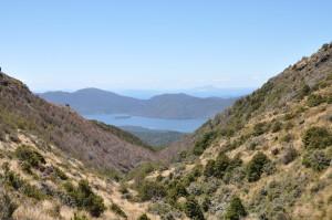 Berglandschaft auf dem Weg nach unten