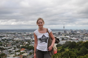 Auf dem Mount Eden in Auckland
