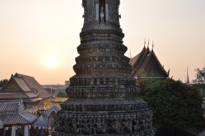 Wat Arun bei Sonnenuntergang