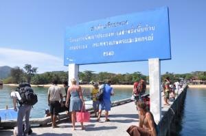 Pier auf Koh Phayam, Thailand