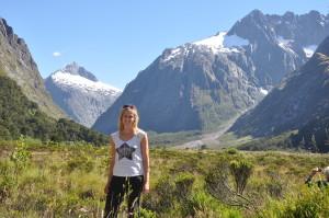 Gletscherlandschaft auf dem Weg zum Milford Sound