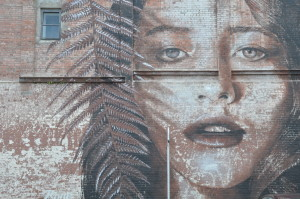 Street Art Christchurch: Fern Girl