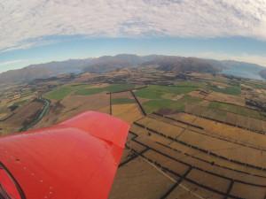 Tolle Aussicht aus dem Flugzeug