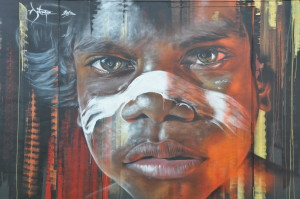 Street Art, Aborigine, Newcastle