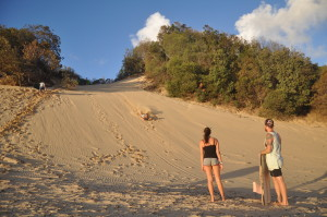 Action in Australien: Sandboarden