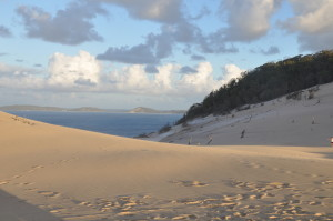 Sandblow in Rainbow Beach, Australien