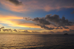 Farbenfroher Himmel