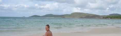 Sonnenbaden am Whitehaven Beach