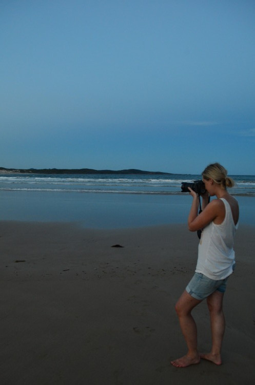 Fotografieren am One Mile Beach, Port Stephens (by Lina)
