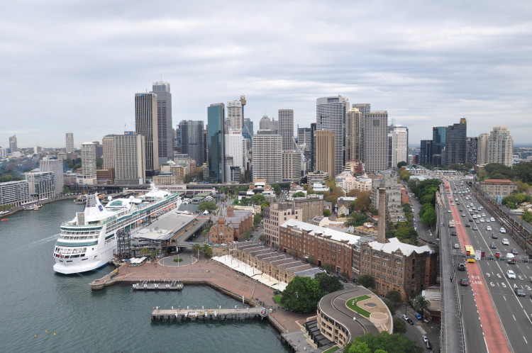 Sydney City View von der Harbour Bridge