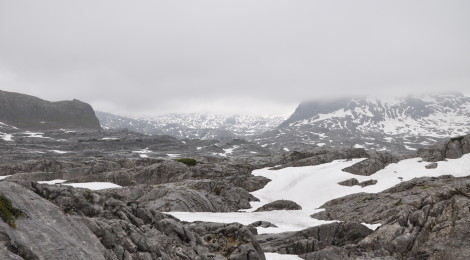 Tag 2 der Wanderung: Steinernes Meer im Nebel