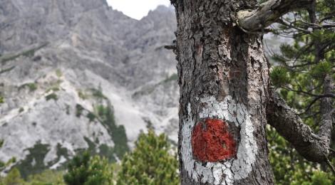 Wanderung Steinernes Meer: Wegmarkierung