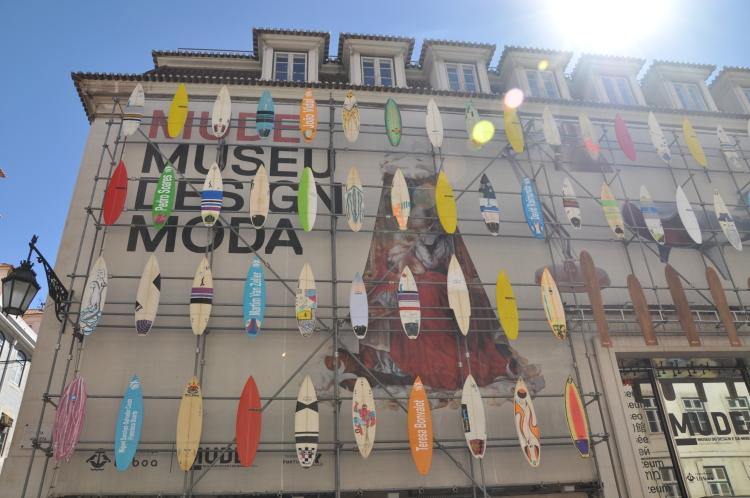 Lissabons Design Museum: Fassade aus Surfboards