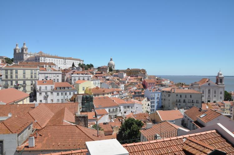 Stadtpanorama in Lissabon