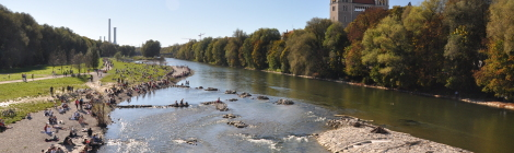 Die Isar: Erholung pur mitten in München