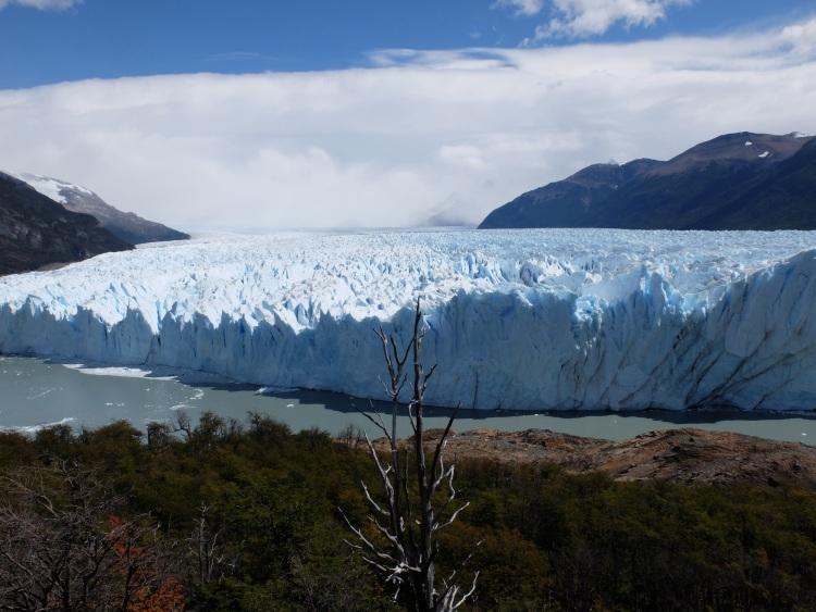 Der erste Blick auf Perito Moreno