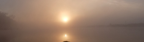 Sonnenaufgang über dem Río Chepu