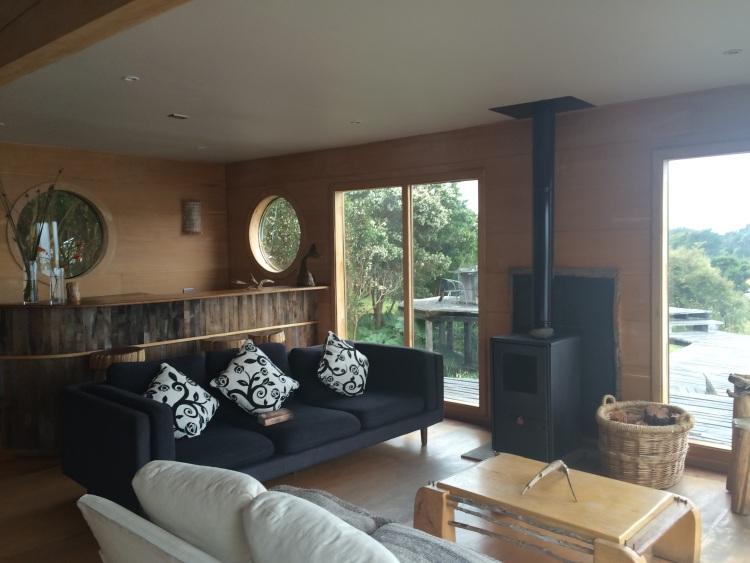 Wohnzimmer im Palafito Cucao