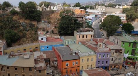 Ausblick vom Cerro Alegre im Stadtzentrum