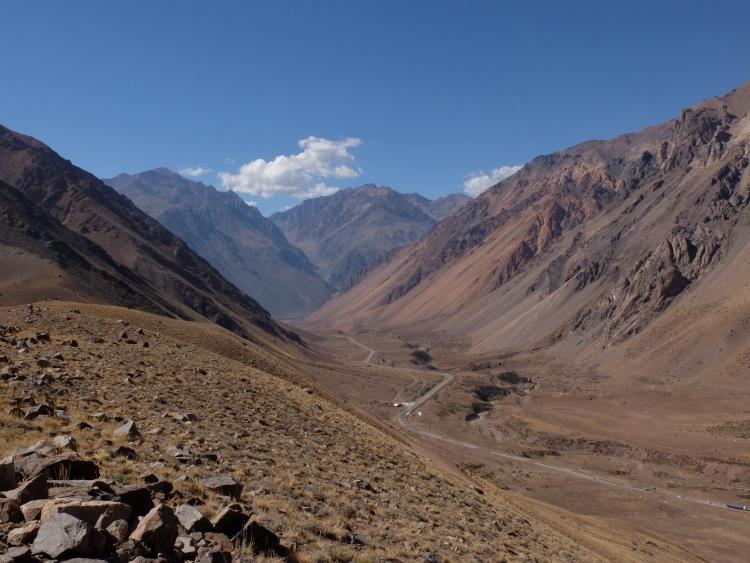 Aussicht auf die Anden