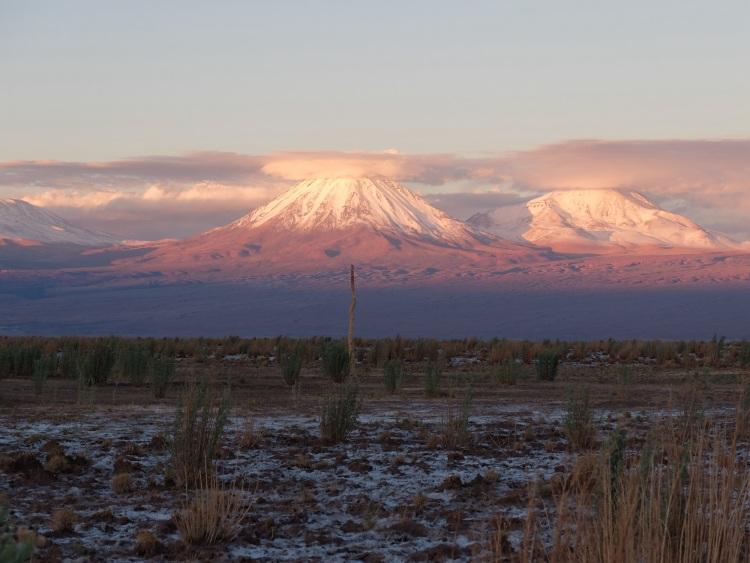 Die Berge beim Sonnenuntergang