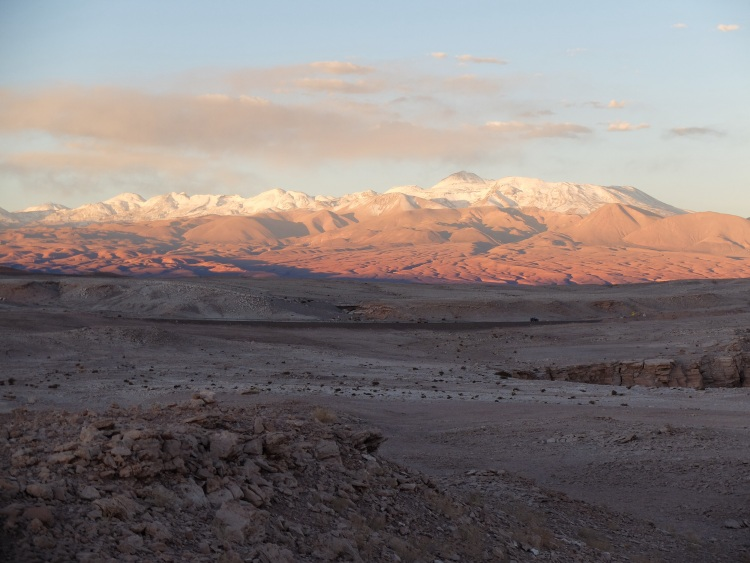 Die Berge im Abendlicht