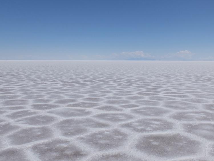 Salar de Uyuni: faszinierend, dieses gleichmäßige Muster