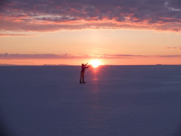 Sonnenaufgang am Salzsee