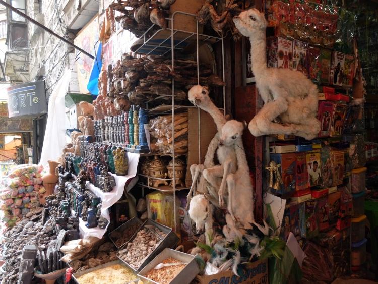 Lamaföten auf dem Mercado de la Hechichería, La Paz