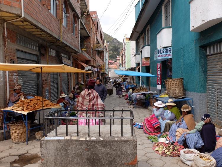 Lebensmittelverkauf auf der Straße statt im Supermarkt