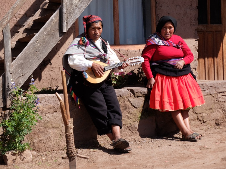 Traditionelle Musik auf der Isla Taquile