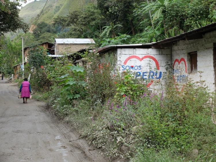 Wandern durch Dörfer