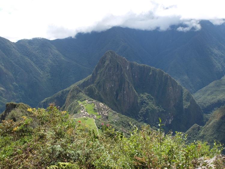 Blick vom Machu Picchu Berg