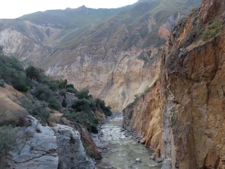 In der Schlucht des Canyons