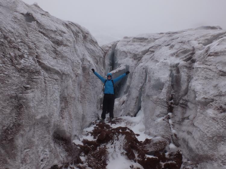 Am Gletscher angekommen